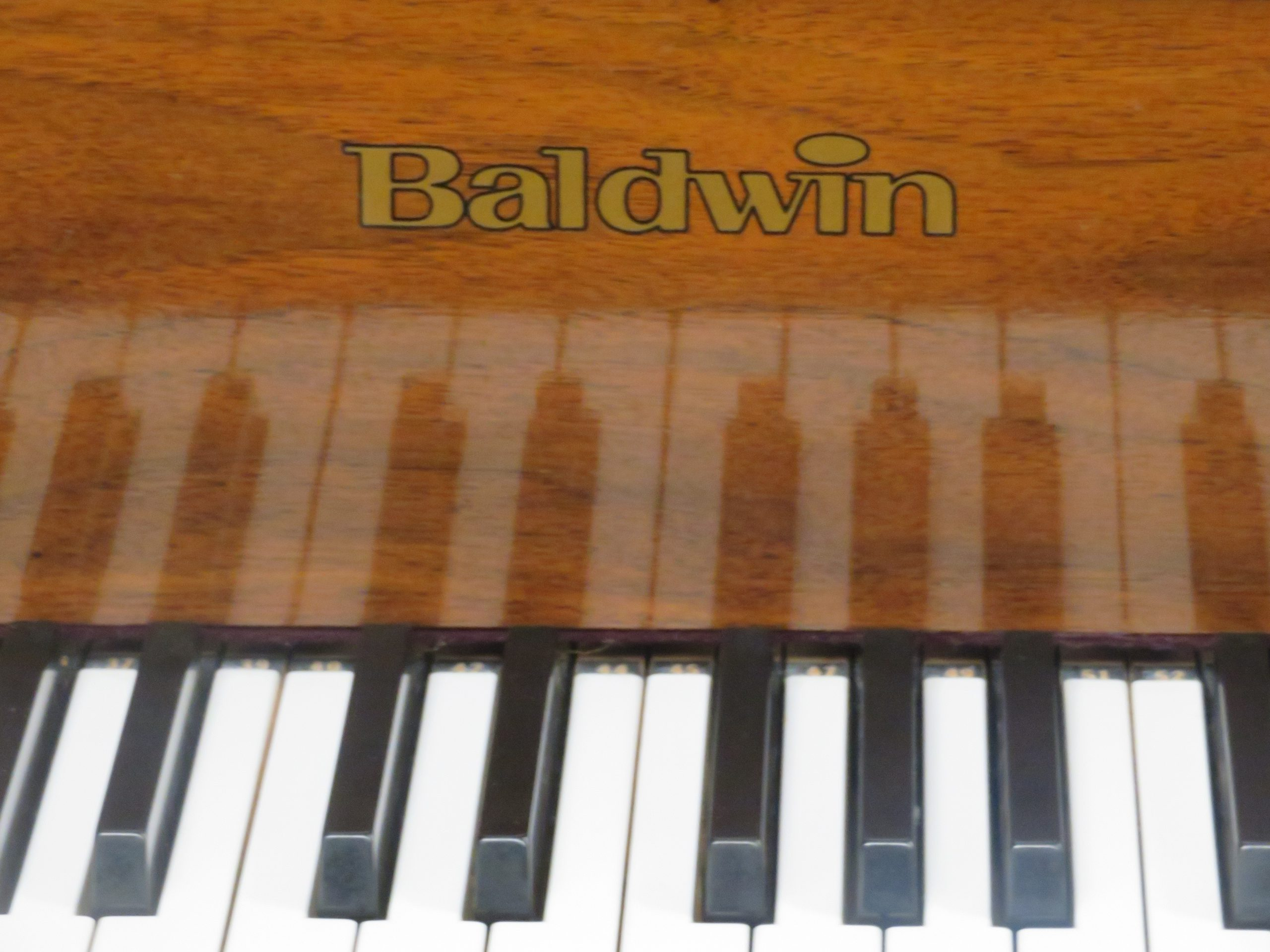 "12475-<br><font color=black><b>BALDWIN</b></font> 5'8″ Model R Artist Grand Satin Walnut Made in the U.S.A. <br><font color=""blue""><b>Click Picture for ""Live Video""</b></font>"