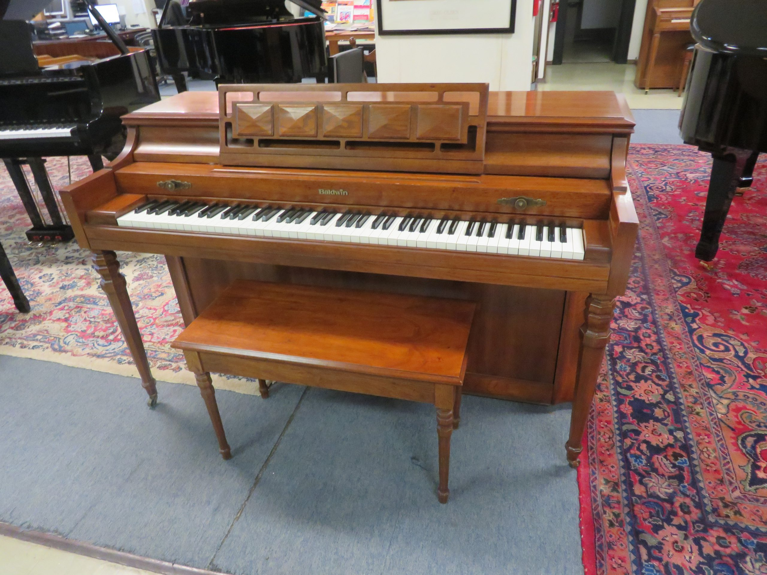 """15436-<br><font color=""""black""""><b>BALDWIN ACROSONIC</b></font> Upright Piano Made in the U.S.A."""