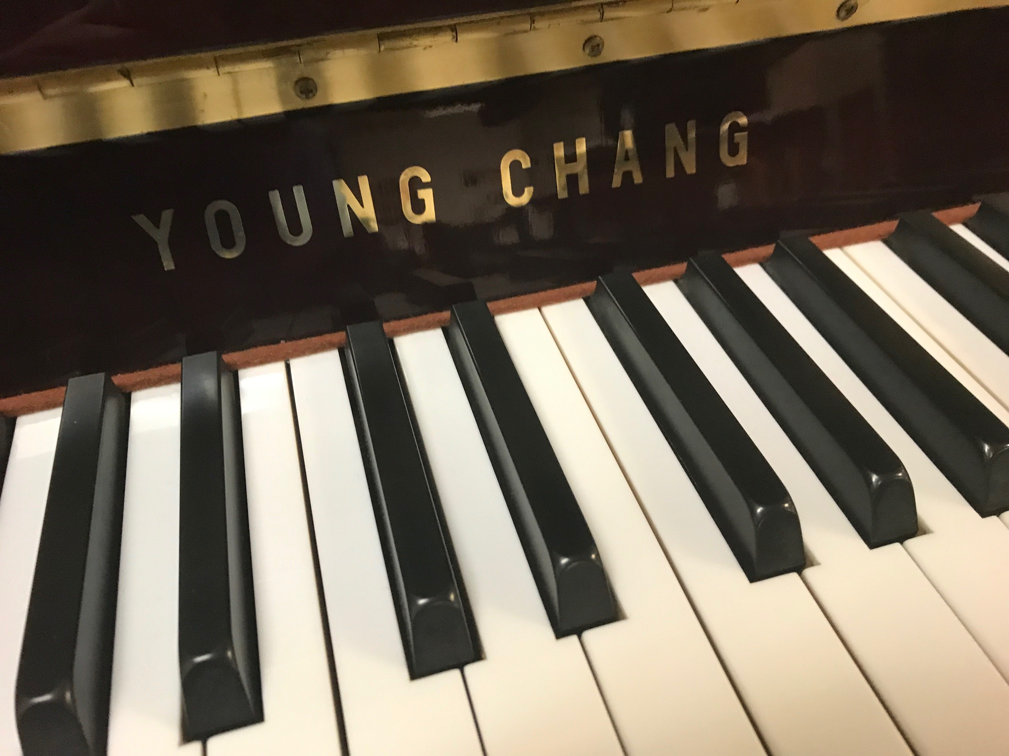 "15372-<br><font color=""black""><b>YOUNG CHANG</b></font> 42″ Continental Style Upright Dark, Rich Polished Mahogany <br><font color=""blue""><b>Click Picture for ""Live Video""</b></font>"